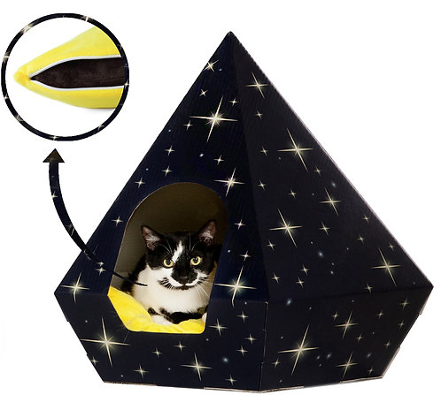 Cat Tent Bed     Eco-Friendly &  Include Washable Pillow Cushion