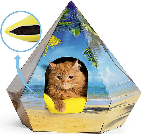 CAT BED TEEPEE VERY STURDY FITS LARGE CATS
