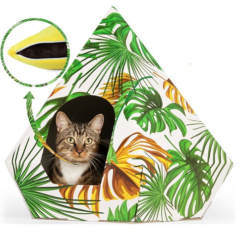 TROPICAL CAT BED TEEPEE VERY STURDY APPROVED BY CATS & OWNERS