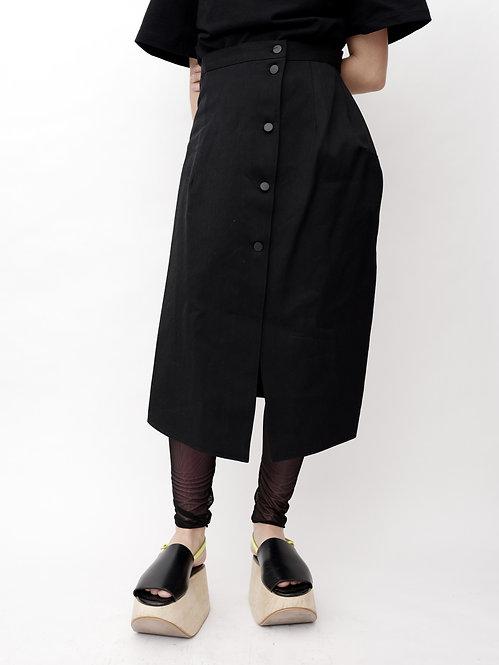Shaped Denim Skirt