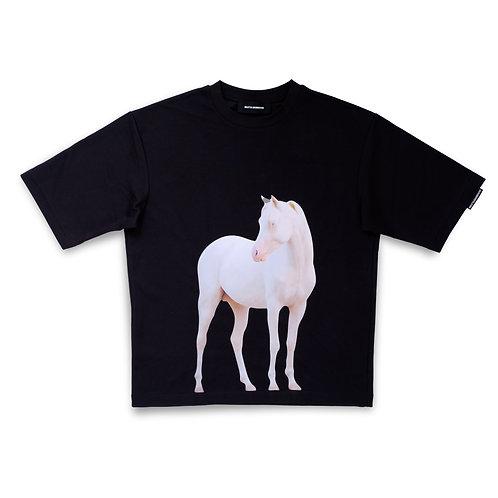 HORSE TEE — BLACK
