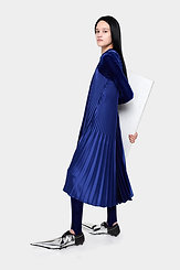 Pleated Strap Dress