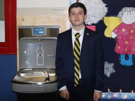 SCSP 8th Grade Student, Rocco Rinaldi's Water Fountain Project