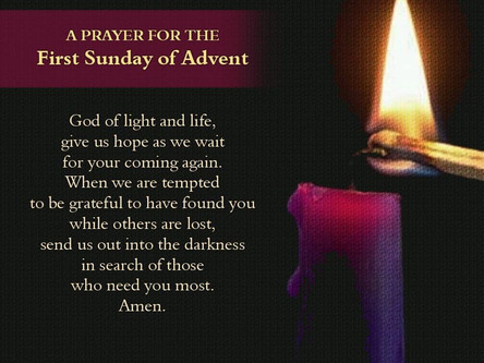 A Prayer for the First Sunday of Advent