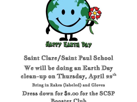 Earth Day, April 22, Dress Down Day