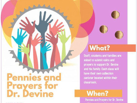 Pennies and Prayers for Dr. Devine