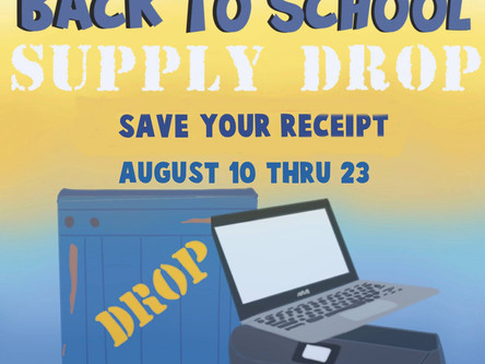 McDonalds Back to School Supply Drop Giveaway