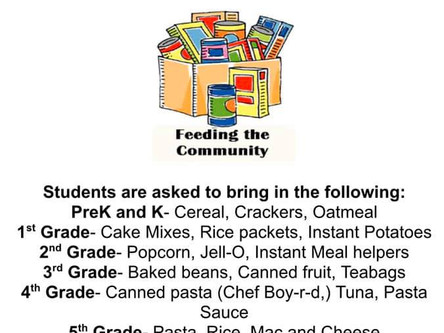 SCSP National Junior Society Host Canned Food Drive
