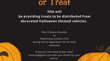 Vehicles Needed for SCSP HSA Trunk or Treat, Wednesday, October 27th