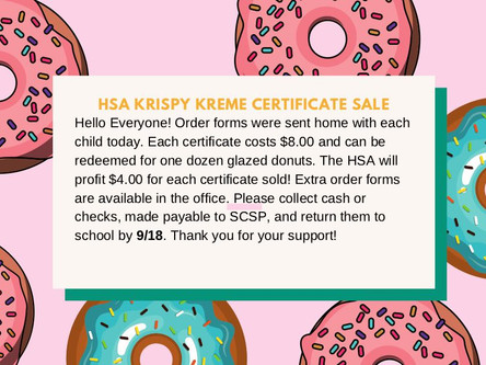 HSA Krispy Kreme Fundraiser