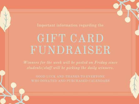 Gift Card Fundraiser Update