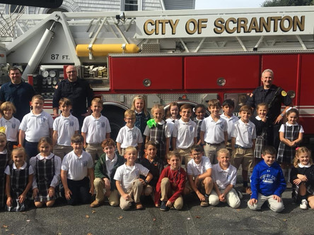 Scranton Fire Department visits Primary Campus during Fire Prevention Week