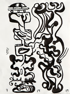"""""""Duo"""" Series - Brush and Ink by Benito Esquenazi"""