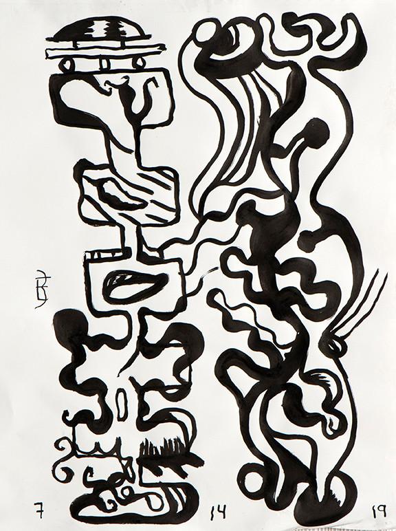 Duo Series - Brush & Ink Drawings