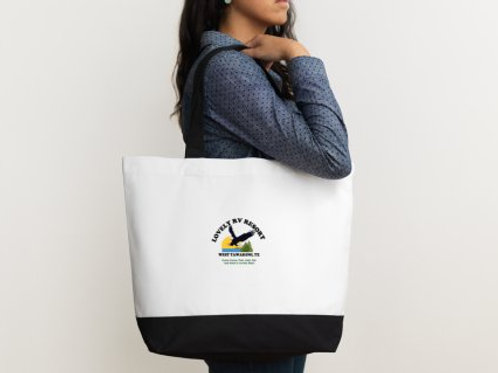 Lovely RV Resort Cotton Canvas Fabric Tote Bag