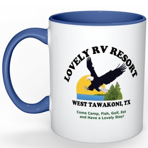 Lovely RV Resort Mug - Blue