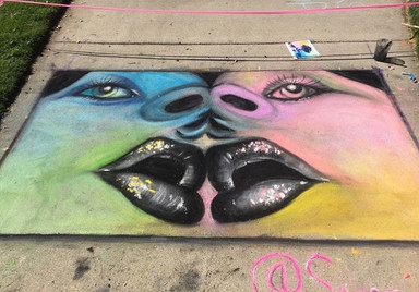 Completed Chalk Art
