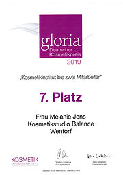 Kosmetikstudio Balance Gloria Award 2019