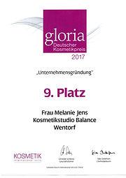 Kosmetikstudio Balance Gloria Award 2017