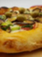 pizza aubergine poireu olive