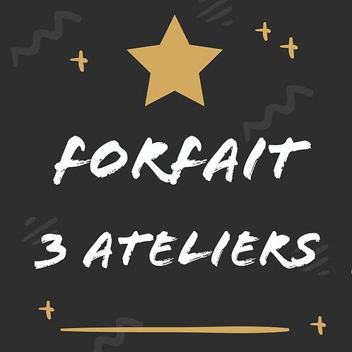 Forfait 3 Ateliers - 20% | Valable sur tous les ateliers de Senlis