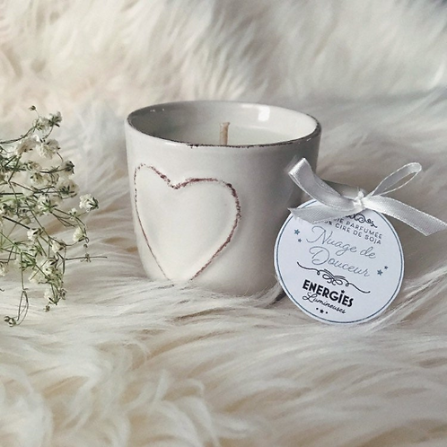 Nuage de Douceur | Bougie Parfumée | 100% cire de soja naturelle