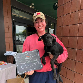 Clover was adopted 9-7-19