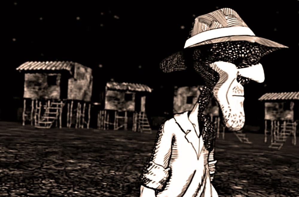 A pedra de José (ilustração da animação Morte e Vida Severina)