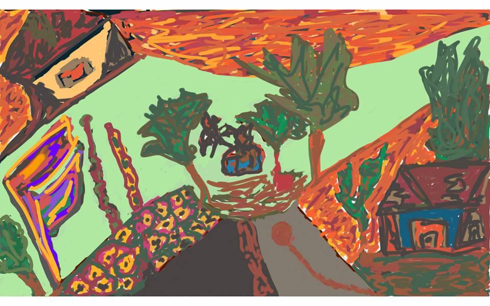 Praça de cores e mentiras (imagem: Clara Meyer Cabral) Salssisne