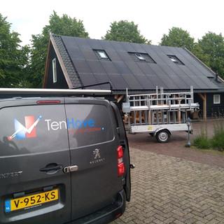 Diverse zonnepaneelinstallaties