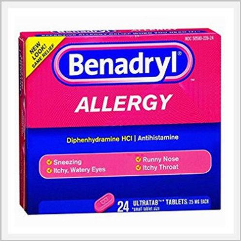 Benadryl Allergy Tablets (25 mg/24 count)