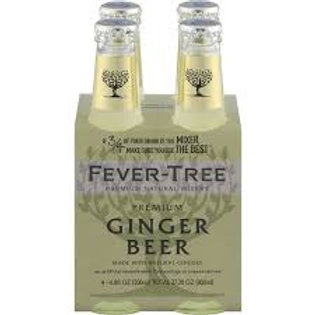 Fever Tree Ginger Beer 4pk (200ml bottles)