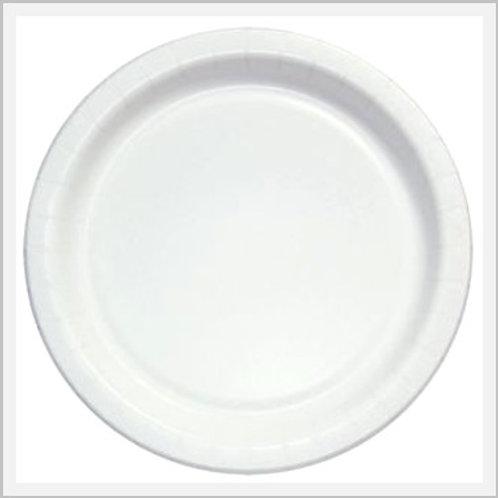 Plastic Disposable Regular Size White Plates (12 count)