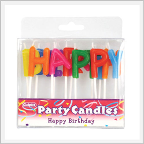 Birthday Letter Candles (1 count)