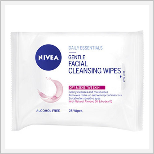 Nivea Facial Cleansing Towelettes Dry (25 count)