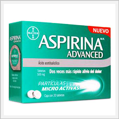 Aspirin Advanced (500 mg/20 count)