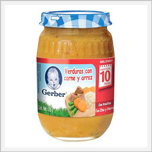 Gerber Baby Vegetable With Beef And Rice Jar