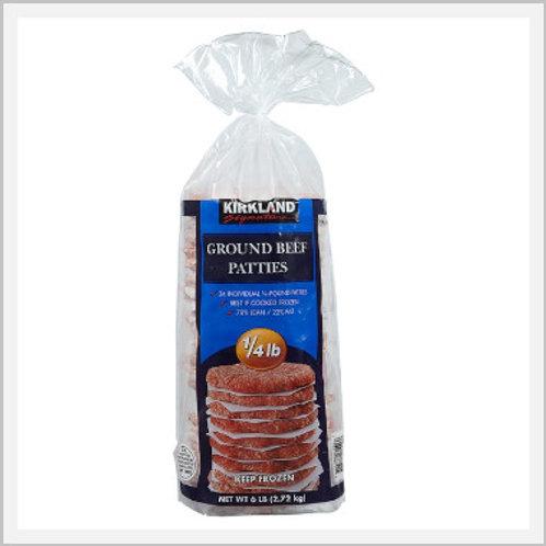 Kirkland Beef Hamburger Patties Frozen (24 pieces/2.7 kg)