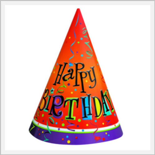 Birthday Party Hat (1 count/single hat)