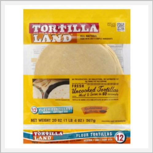 Uncooked Flour Tortillas (36 count/1.7 kg)