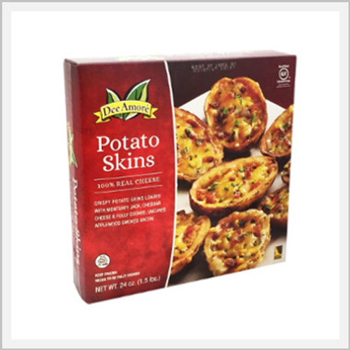 Potato Skins Cheddar, Monterey Jack & Bacon (24 count/1.08 kg)