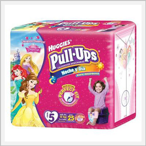 Pull Ups Diapers Stage 5 Girls (25 count)