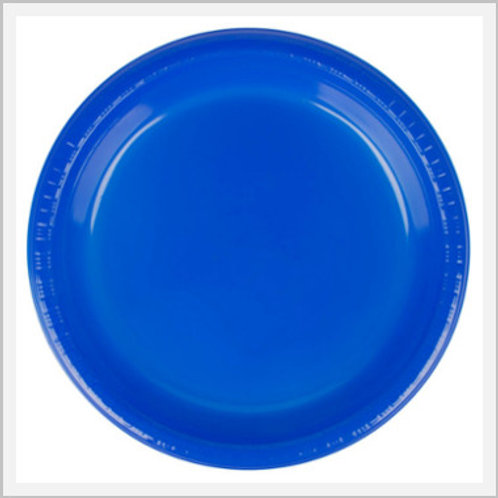Plastic Disposable Regular Size Colored Plates (20 count)