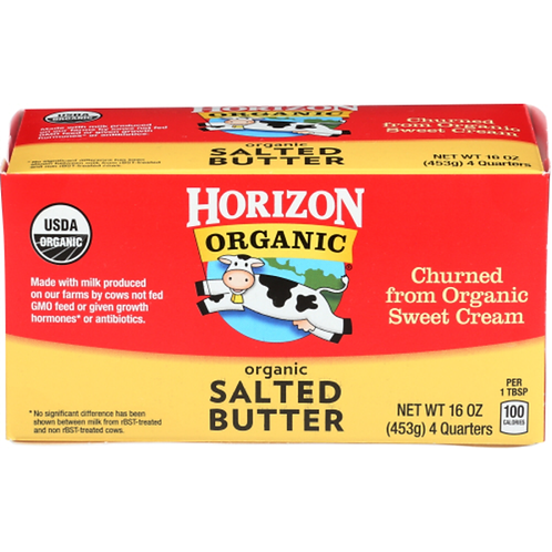 Horizon Organic Butter Salted or Unsalted  4pk (454g)