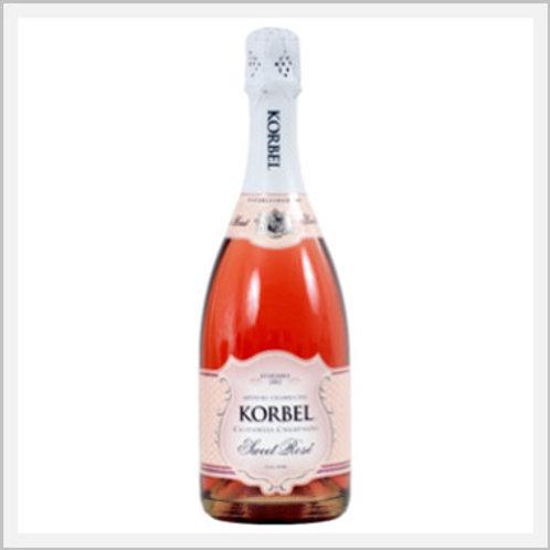 Korbel Sweet Rose Sparkling Wine (750 ml)