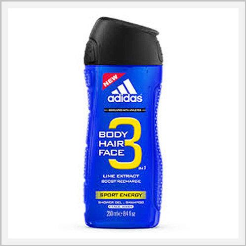 Adidas Liquid Soap Energy Sport 3 In 1 (250 ml)