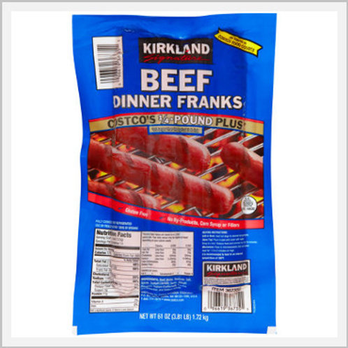 Kirkland Beef Hot Dog Franks (14 count/1.72 kg)