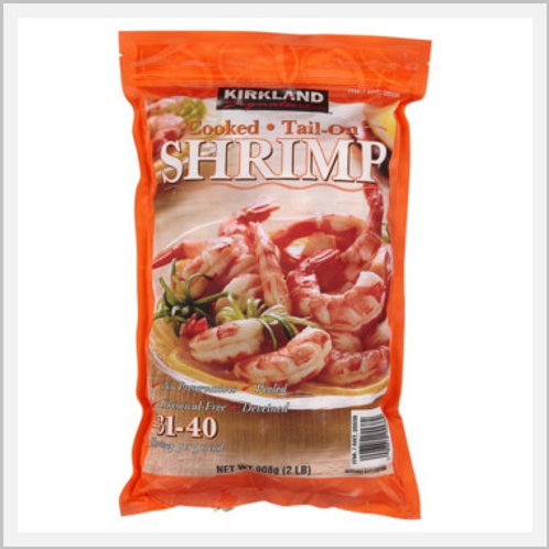 Cooked Shrimp Tail On Frozen (31-40 count/908 g)