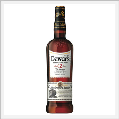 Dewar's 12 Years Blended Scotch & Whiskey (750 ml)
