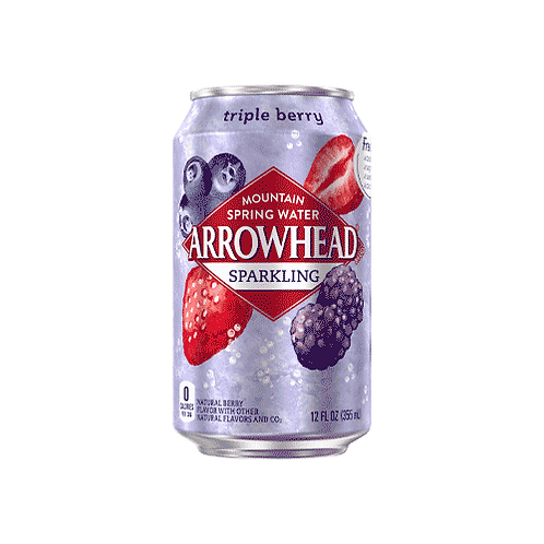 Arrowhead Triple Berry Sparkling Water 8/355 ml cans